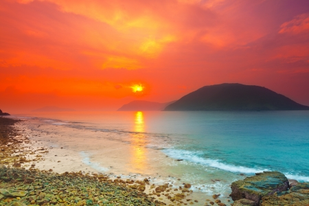 Sunrise over the sea. Con Dao. Vietnam photo