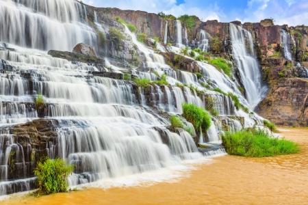 Beautiful Pongour waterfall in Vietnam photo