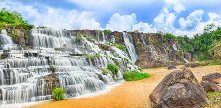Beautiful Pongour waterfall in Vietnam photo