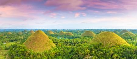 Gezicht op de Chocolate Hills Bohol, Filipijnen