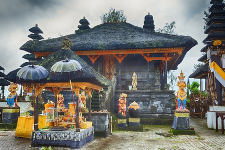 god figure: Detail of traditional balinese hindu temple