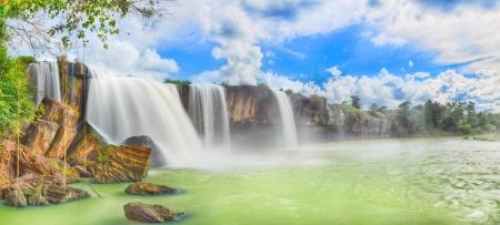 Beautiful Dry Nur waterfall in Vietnam. Panorama Foto de archivo