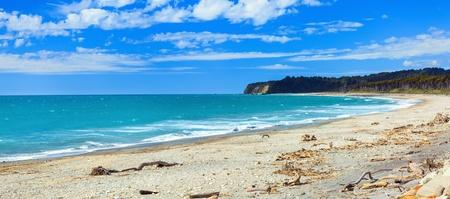 new zealand beach: Coast of the Tasman sea  Panorama