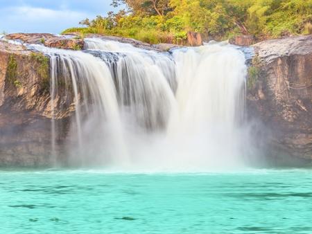 sap: Beautiful Dry Sap waterfall in Vietnam. Panorama