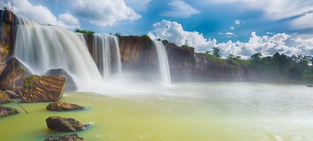 Beautiful Dray Nur waterfall in Vietnam. Panorama