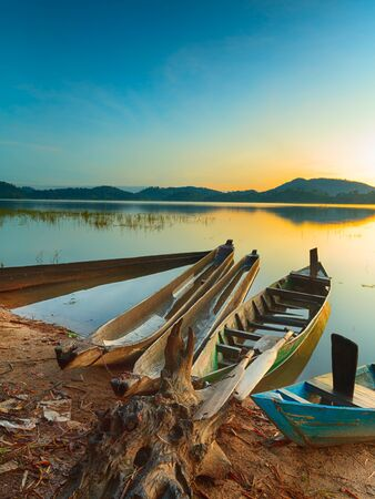 waterscape: View of a Lak lake at sunrise Stock Photo