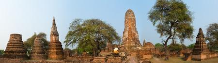 phra nakhon si ayutthaya: Wat Phra Ram. Ayutthaya historical park. Panorama Stock Photo