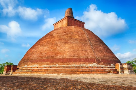 dagoba: Jetavanaramaya dagoba in the ruins of Jetavana in the sacred  of Anuradhapura, Sri Lanka