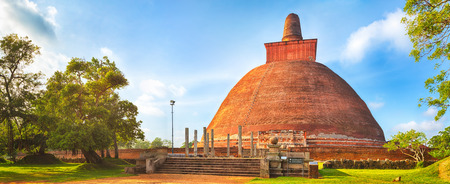 dagoba: Jetavanaramaya dagoba in the ruins of Jetavana in the sacred  of Anuradhapura, Sri Lanka. Panorama
