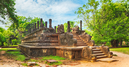 chambers: The Council Chamber in the  city Polonnaruwa, Sri Lanka. Panorama