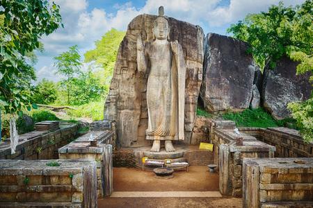 buddha statue: Avukana Buddha Statue near Kekirawa, Sri Lanka