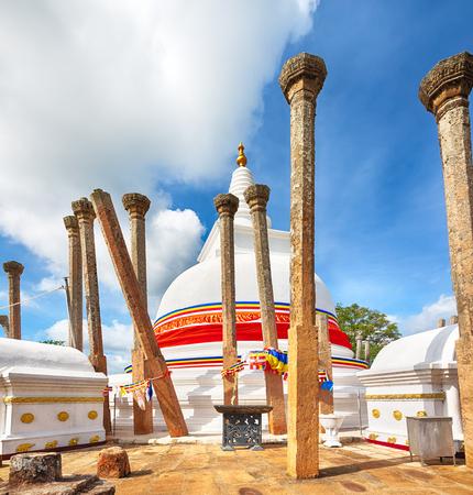 dagoba: Thuparamaya dagoba in the sacred world heritage city of Anuradhapura, Sri Lanka. Editorial
