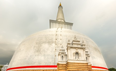 dagoba: Ruwanwelisaya dagoba in the sacred world heritage city of Anuradhapura, Sri Lanka Editorial
