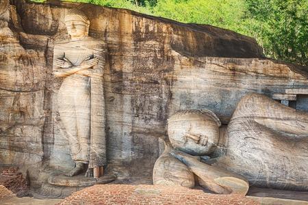 The Gal Vihara in the city Polonnaruwa, Sri Lanka.