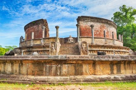 world heritage site: The Polonnaruwa Vatadage in the world heritage city Polonnaruwa, Sri Lanka.