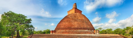 dagoba: Jetavanaramaya dagoba in the ruins of Jetavana in the sacred world heritage city of Anuradhapura, Sri Lanka. Panorama