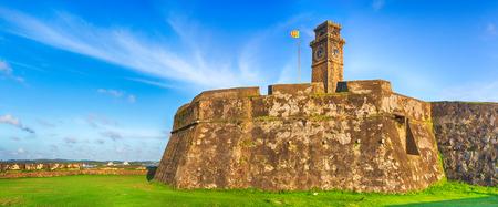 galle: Anthonisz Memorial Clock Tower in Galle, Sri Lanka. Panorama