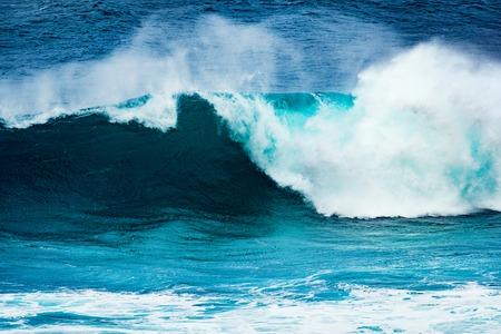 granola: Big wave of Indian ocean. Gris Gris Beach. Mauritius
