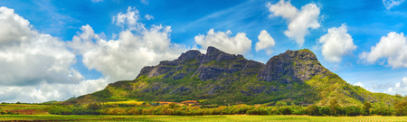 most: View of a mountains. Mauritius island. Panorama