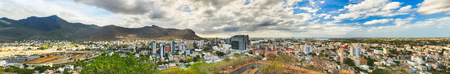 Panoramic view of Port Louis from the Fort Adelaide, Mauritius