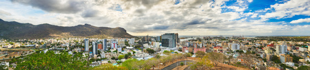 horison: Panoramic view of Port Louis from the Fort Adelaide, Mauritius