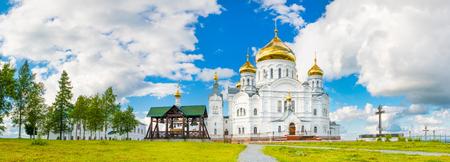 Panoramic view of the Belogorsky Monastery. Perm Krai. Russia. Panorama