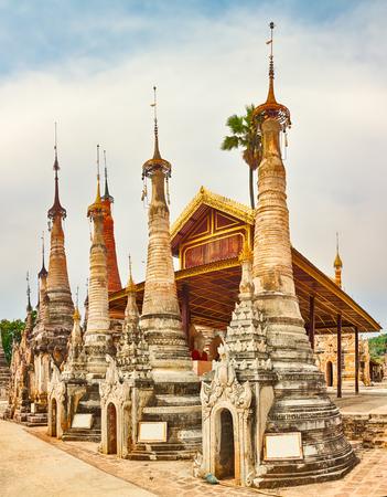 Buddhist pagoda Takhaung Mwetaw in Sankar. Myanmar.