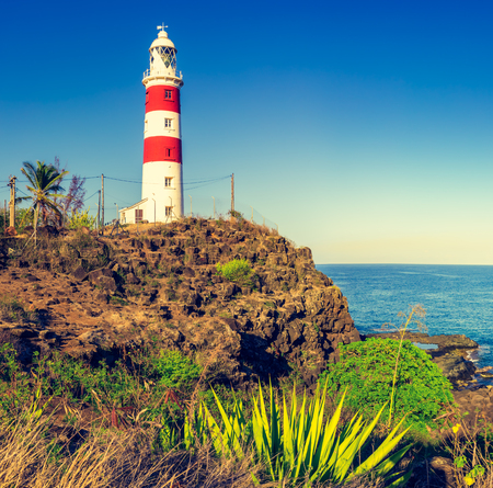 Pointe aux Caves also known as Albion lighthouse. Mauritius