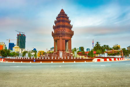 The Independence Monument in Phnom Penh, Cambodia Famous landmark and tourist attraction