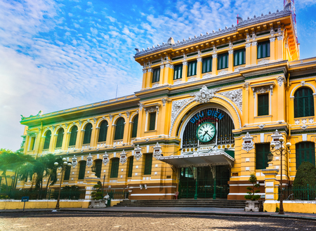 Saigon Central Post Office in the downtown Ho Chi Minh City, Vietnam Zdjęcie Seryjne - 115465117