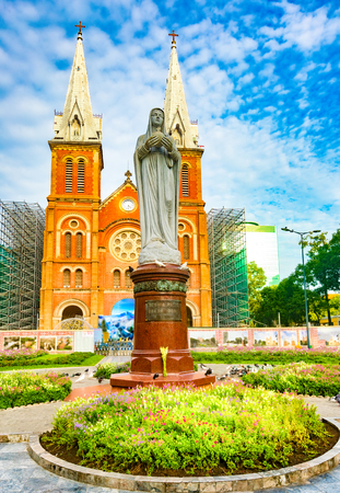 Notre-Dame Cathedral Basilica of Saigon  in Ho Chi Minh City, Vietnam