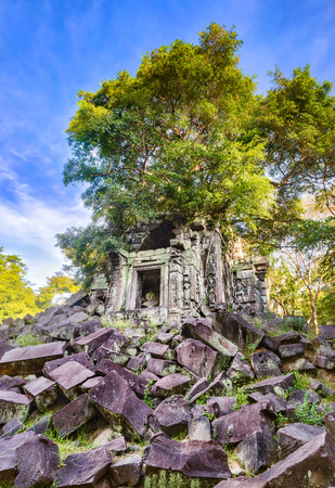 Beng Mealea or Bung Mealea temple at morning time. Siem Reap. Cambodia Фото со стока
