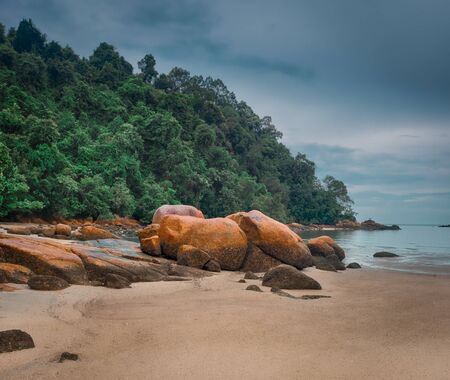 Penang national park at rainy day, Malaysia. Panorama