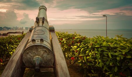 Fort Cornwallis, bastion fort in George Town, Penang, Malaysia. Panorama