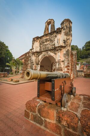 Surviving gate of the A Famosa Portuguese fort in Malacca, Malaysia