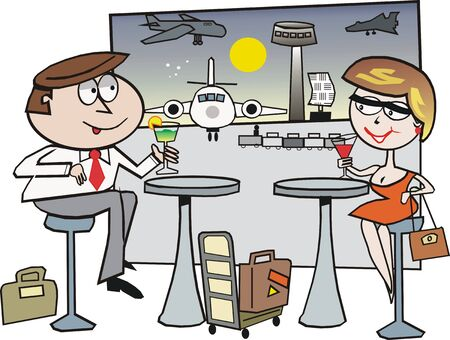 Airport travel cartoon Vector
