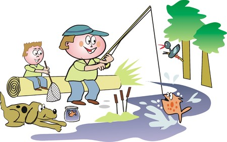 angler: Fishing cartoon Illustration