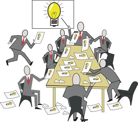 Reuni�n de dibujos animados de ideas de negocio  Foto de archivo - 6326944