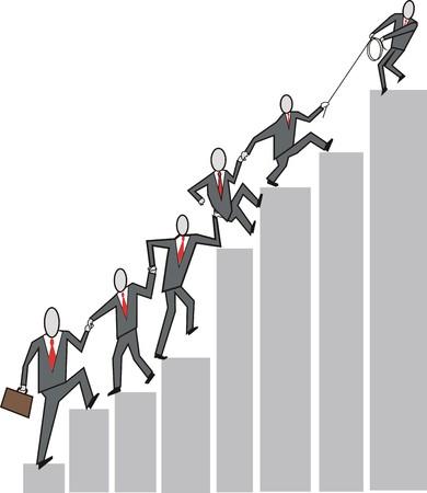 Business teamwork cartoon Stock Vector - 6656795
