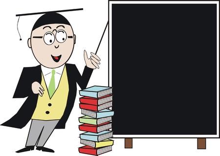 Teacher cartoon Vector