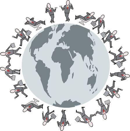 Business travel cartoon Vector