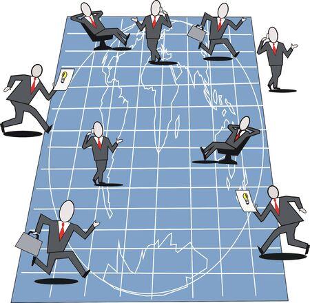 Business plan cartoon Stock Vector - 6701367