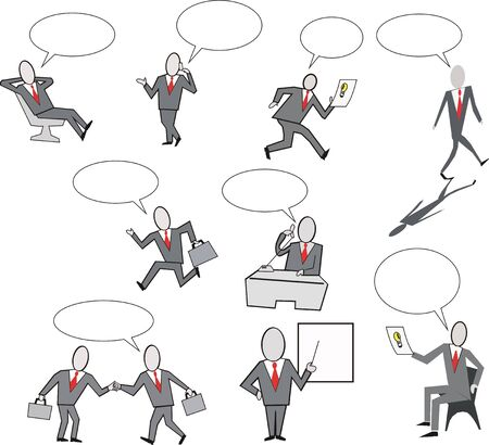 Businessman group cartoon Vector