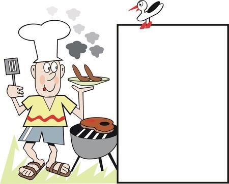 Barbecue chef cartoon Vector