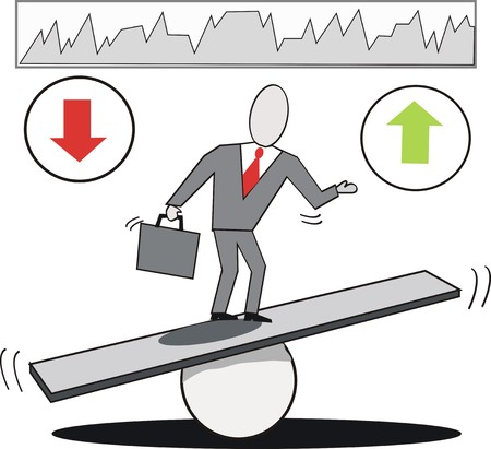 fulcrum: Business balancing cartoon Illustration
