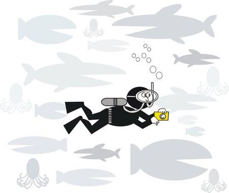 Underwater cartoon Vector