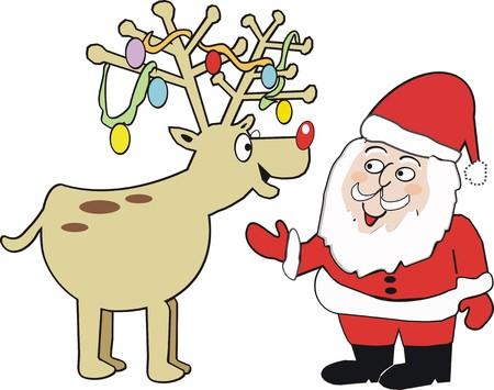 Christmas reindeer cartoon Vector