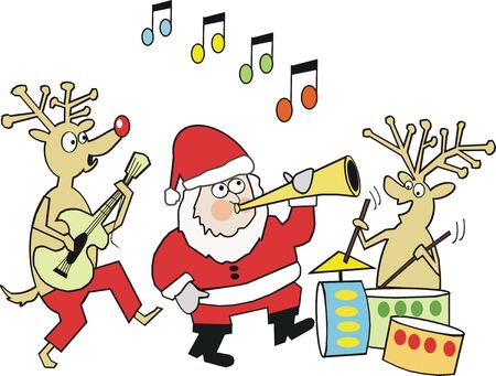 Santa music cartoon