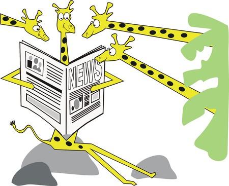 Girafe cartoon