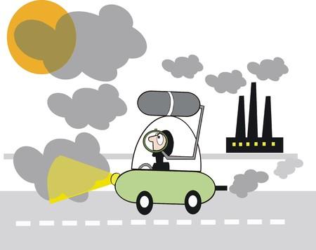 monoxide: Environment cartoon